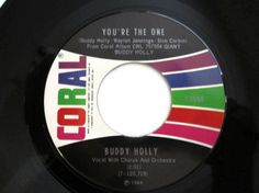 Buddy Holly 45rpm Vinyl Record Love is by CuriousCatVintage, $16.00