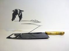 Intricate Shadow Silhouettes Carved from Knife Blades by Li Hongbo - My Modern Met