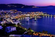 Mykonos Island! Greece night!    Cavo Tagoo Mykonos Hotel.