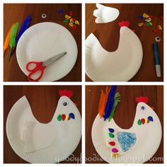 GoodyFoodies: Five Easy & Fun Easter Crafts for Kids Easy Preschool Crafts, Farm Crafts, Easter Activities, Cute Easter Bunny, Hoppy Easter, Animal Crafts For Kids, Easter Crafts For Kids, Diy Ostern, Alphabet For Kids