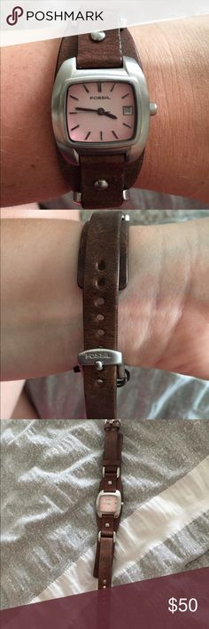 Woman's Fossil Watch Woman's Fossil Watch. Only worn once. Needs a new battery. Fossil Jewelry