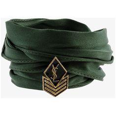 Saint Laurent Monogram Army charm bracelet ($270) ❤ liked on Polyvore featuring jewelry, bracelets, monogram jewelry, charm bracelet bangle, braid charms, military charm bracelet and charm bangle