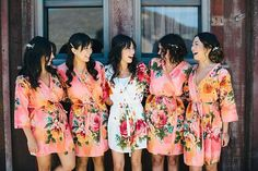 10 Fabulous Bridesmaid Gifts on @intimatewedding Kimono robe for getting ready photos by SilkandMore on Etsy #bridesmaids #weddingideas #weddinggifts