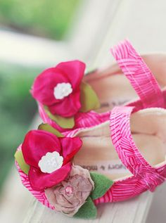 Anthropologie inspired baby shoes