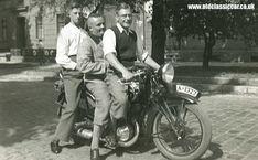 An unidentified motorbike