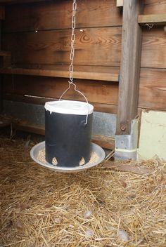 DIY chicken feeder | by QueenieVonSugarpants