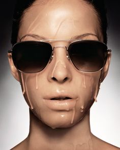 British photographer Rankin presents his fourth exhibition in Germany with 'Less is More', held at the Kunsthalle Rostock and curated by Ulrich Ptak. Rankin Photography, Fashion Photography, John Rankin, Round Sunglasses, Mens Sunglasses, Beautiful Mask, Less Is More, Surreal Art, Face