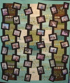 Memory Quilt that I made for my mom  70th Birthday. I love making memory quilts....there is something comforting snuggling up with photo's of your loved ones all around you