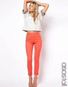 ASOS TALL High Waist Skinny Trousers