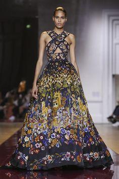 "blackgirls-wearing-ballgowns: """"Cindy Bruna at Zuhair Murad Haute Couture Fall 2016 "" """