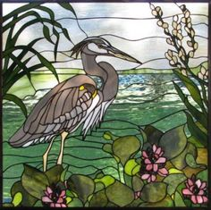 Ortega Forest stained-glass art
