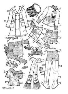 Karen`s Paper Dolls: Caroline 1-6 Paper Doll to Colour. Caroline 1-6…