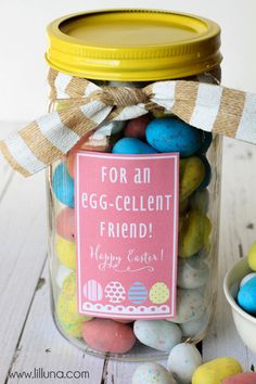 Egg-Cellent Easter Jar Gift from @kristynm