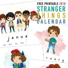 We have a fun additional to your calendar collection today! A 12 Page Free Printable 2018 Stranger Things Calendar that you are going to love!