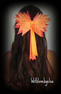 "16 BLESSING Girl Long Tail 4.5/"" Cheer Leader Bow Elastic Finding Nemo Hair Bow"