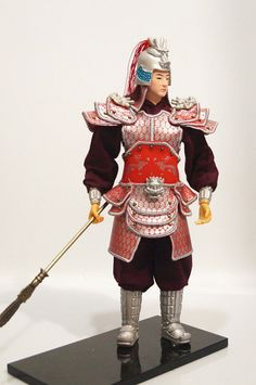 32cm Chinese Ancient Martial Military Officer General Commander Warrior-4