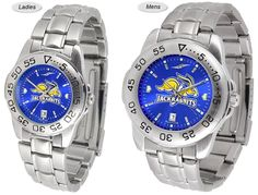 Sport Steel AnoChrome South Dakota State Jackrabbits Watch is available in Mens or Ladies styles. Showcases the team logo. Stainless Steel band. Ships Free. Visit SportsFansPlus.com for Details.