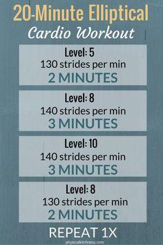 20 Minute Cardio Elliptical Workout