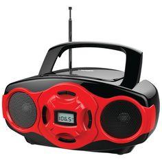 Naxa Portable Mp3 And Cd Mini Boom Box & Usb Player (red)