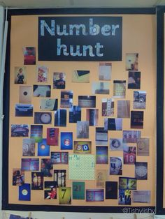 number hunt - encourage kinder students and families to look for numbers at home and in the community, send in pictures/documentation for a cute display Numbers Kindergarten, Math Numbers, Preschool Math, Teaching Math, Teen Numbers, Maths Eyfs, Numeracy Activities, Eyfs Classroom, Maths Classroom Displays
