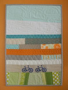 love the different quilting in this