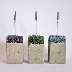 Fotolijsten van cement en glas van MicaRicaShop op Etsy