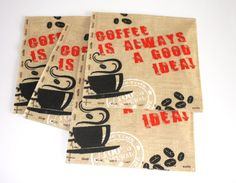 Decoupage paper napkins Cofee lover napkin Napkings by ramonaignat