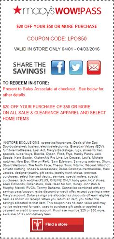 0913dea7e1fad 37 Best Macy s Coupon Codes   Printable Coupons images