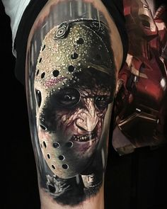 Horror tattoo by Steve Butcher New Zealand