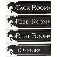 tack room signs