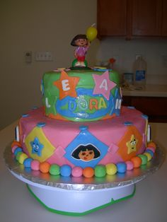 Cake Design Dora L Exploratrice : Party ideas, Dora the explorer and Parties on Pinterest