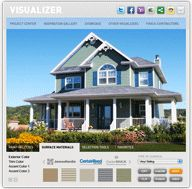 Showoff.com - free online home and garden design visualizer; upload photo of home or yard and add plants, paint colors, etc. to plan out a garden.