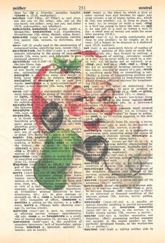 Items similar to Santa Claus, Christmas Dictionary Print, Vintage Art, Upcycled Art on Etsy Vintage Christmas, Christmas Ideas, Christmas Crafts, Xmas, Santa Claus Is Coming To Town, December Daily, Watercolor Portraits, Vintage Art, Stencils