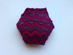 """This Chevron Hexipuff Chart is meant to be used with """"the beekeeper's quilt"""" hexipuff pattern by Tiny Owl Knits."""