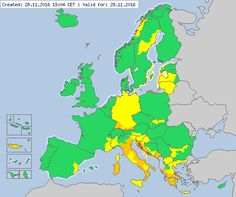 Meteoalarm - severe weather warnings for Europe - Mainpage