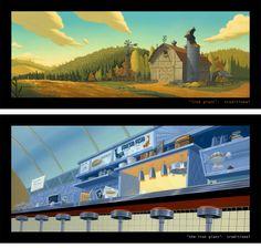 Belíssimas artes de Chris Brock para filmes da DreamWorks | THECAB - The Concept Art Blog