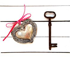 Large Antique Key  Italian Antique Key  by millyscollection