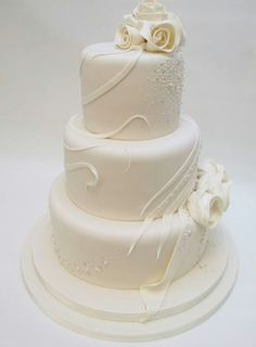 Wedding Cake, simple, elegant, modern