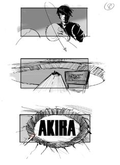Storyboards Surface From Delayed Live Action 'Akira' Movie By Artist Jeffrey Errico Akira Live Action, Storyboard, Jodorowsky's Dune, Lost Movie, Good Movies, Cinema, Sketches, Manga, Illustration