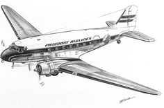 Airplane Drawing, Airplane Art, Piedmont Airlines, Art Sketches, Art Drawings, Airplane Coloring Pages, Photo Avion, Vintage Airplanes, Aircraft Design