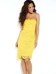 Strapless Broderie Dress