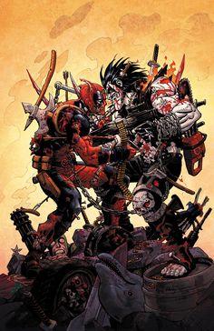 Lobo vs Deadpool - Reilly Brown