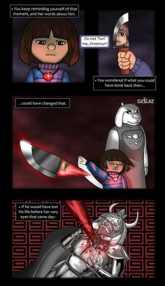 Undertale Comic - Deep Thoughts 1/2 by DZkribblerLuiz