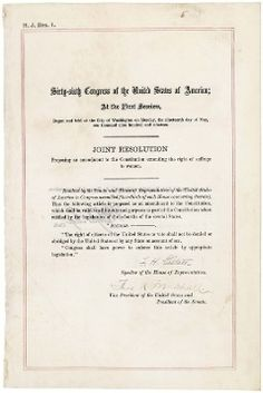 August 18, 1920: The 19th Amendment to the United States Constitution is ratified, guaranteeing women's suffrage.