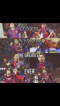 Happy birthday to the greatest player in the history of the game  Happy birthday king Leo Messi #Messi28