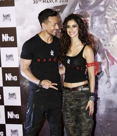Tiger Shroff and co-star Disha Patani arrived in a chopper at the Turf Club in Mumbai to promote their upcoming film Baaghi 2 Indian Celebrities, Bollywood Celebrities, Bollywood Actress, Bollywood Couples, Bollywood Stars, Indian Actresses, Actors & Actresses, Deepika Padukone Dresses, Disha Patni