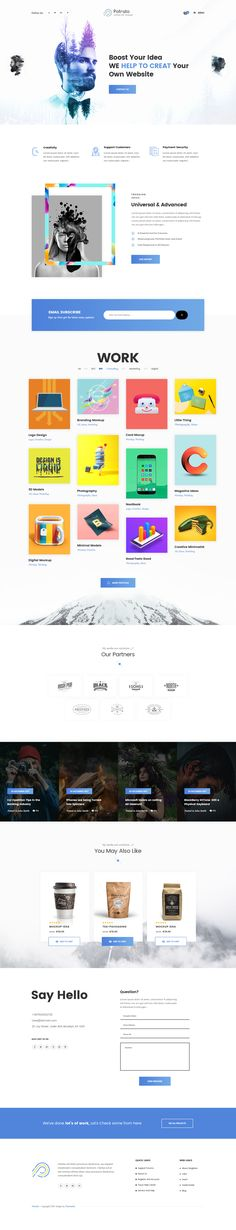 Porato is a beautiful, multipurpose template with trendy design web pages which responds to the most demanding customers. Perfectly suits for business companies, design & development agencies, arch...