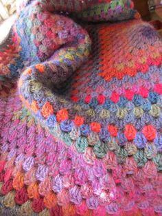 Crochet blanket Granny Square blanket afghan by ChocolateDogStudio, $225.00
