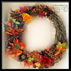 New Post from May Arts Blog How to Make an Easy Fall Wreath