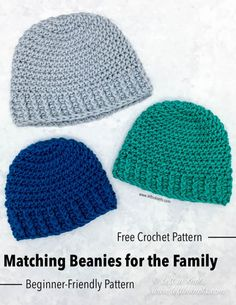 """Everyone needs their """"crochet basics"""" patterns in their repertoire. This hat pattern is perfect for everyone! From someone learning how to crochet to those who sell their work. It can be used as a basic hat pattern or as a canvas for embellishment! One Skein Crochet, Crochet Baby Hats, Free Crochet, Double Crochet, Crochet Poncho, Crochet Lion, Crochet Headbands, Crochet Things, Irish Crochet"""